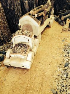 Large Handmade Wooden Diesel Truck