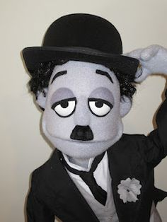 jarrod boutcher puppets: CHARLIE CHAPLIN PUPPET, great work, and a fun looking puppet. Love the black and white look.