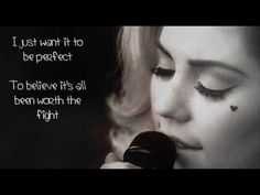 Marina and the Diamonds - Lies - Acoustic - LYRICS  I love how high her range of singing is. Its so beautiful :D