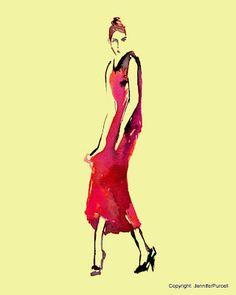 Fashion illustration by: Jennifer Purcell