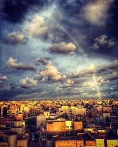 Rainbow over Dakar, captured from Sicap Foire #senegal