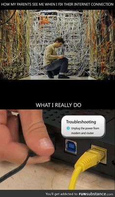 Fixing internet connection
