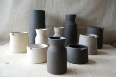 Collection of pottery by Jono Smart