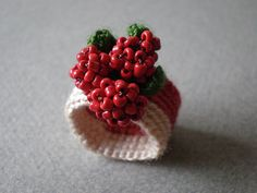 Freeform Crochet Ring by irregularexpressions Crochet Rings, Wire Crochet, Crochet Cross, Freeform Crochet, Crochet Motif, Crochet Shawl, Crochet Flowers, Crochet Patterns, Crochet Headband Pattern
