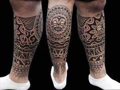 maori leg tattoo - Google Search