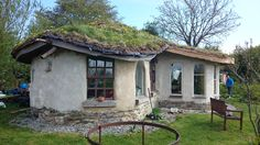 Christian and Louise's cob cottage in Ireland (west elevation). They are now mainly based in Cairns, Australia - check out their work on https://www.facebook.com/GrowYourHome