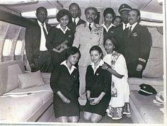 Emperor Haile Selassie on an Ethiopian Airlines Flight ~ Cabin Crew Photos