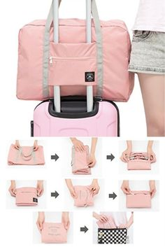 I need this folding nylon storage bag for travel. Great idea! I can pack it in my carry on luggage to have extra room to bring back souvenirs that I bought on my trip. Hand luggage size and lightweight to save on baggage fees. Flight and travel hack and tips for solo travelers / couples / family budget travelers with wanderlust. Bring back a piece of your bucket list destination with this inexpensive bag. http://amzn.to/2utVmPy