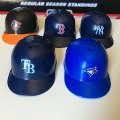 30 Mini Baseball Helmets To Track the MLB Standings (Includes Stand) 3ab9cd81b50