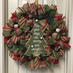 A personal favorite from my Etsy shop https://www.etsy.com/listing/254533005/deco-mesh-christmas-tree-wreath