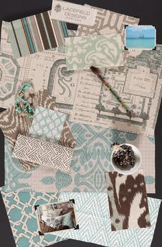 Lacefield Designs Horizon #textile #moodboard www.lacefielddesigns.com  #fabric #seafoam #blue #ikat