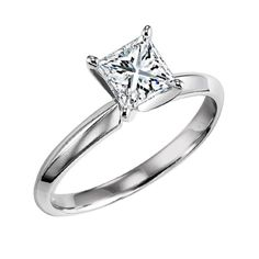 .71ct G/SI3 princess cut solitaire diamond engagement ring with egl cert