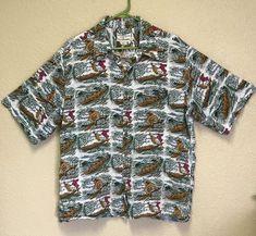 Dietrich Varez Reyn Spooner Aloha Hawaiian Shirt Surfer Dolphins  #ReynSpooner #Hawaiian