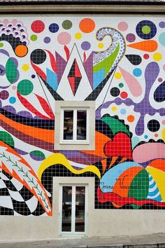 mural by Joana Vasconcelos (for Steak 'n' Shake), Porto Mural Art, Wall Art, Installation Art, Art Installations, Outdoor Sculpture, Public Art, Amazing Architecture, Graffiti, Street Art