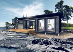 Kara-hirsimökit –Salvos Home Fashion, Cabin, Mansions, House Styles, Home Decor, Decoration Home, Manor Houses, Room Decor, Cabins