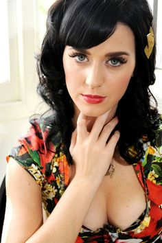 Katy Perry Can't be missed #wink #sexy #katyperry KATY PERRY....obsessed with her style. Love her makeup, dark hair, impossibly big beautiful eyes...perfect Boobs just visit: