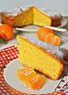 Pan di mandarino Almond Cakes, Pound Cake, Cornbread, Family Meals, Italian Recipes, Berries, Food And Drink, Cooking Recipes, Snacks