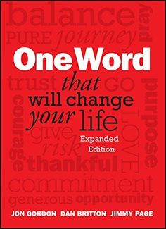 Heard about this on Amy's Table, Cincinnati, Q102.  One Word That Will Change Your Life, Expanded Edition, http://www.amazon.com/dp/1118809424/ref=cm_sw_r_pi_awdm_Xu1Xvb11MHECN
