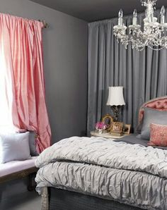 Old Hollywood inspired bedroom