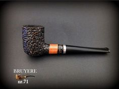 HAND MADE WOODEN TOBACCO SMOKING PIPE  BRUYERE no 71 Rustic Orange    Briar