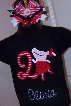 Olivia the pig birthday shirt