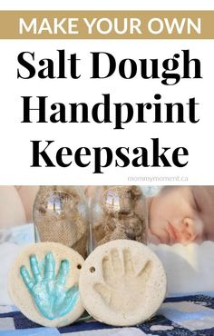 Make your own SALT DOUGH HANDPRINT KEEPSAKE with this DIY Salt Dough Recipe