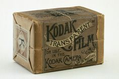 Original Kodak film pack, c.1890, National Media Museum Collection. George Eastman and others developed flexible celluloid film, which enabled the invention of motion pictures.
