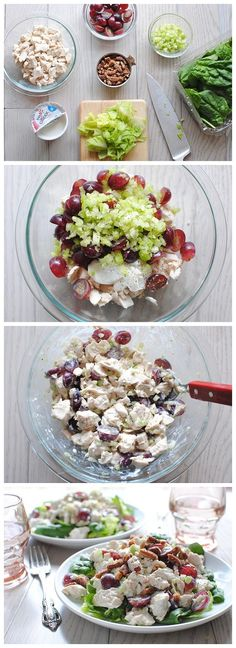 A healthy version to a chicken salad.Greek Yogurt Chicken Salad