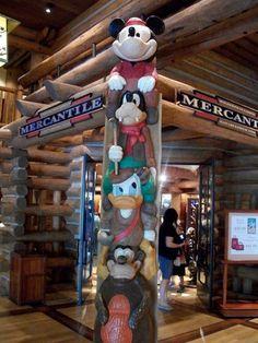 Wilderness Lodge Mickey Totem Pole