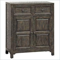 Pulaski Accents Rustic Chic Hall Chest in Parker - Features: Finish: Parker One Drawer Two Doors