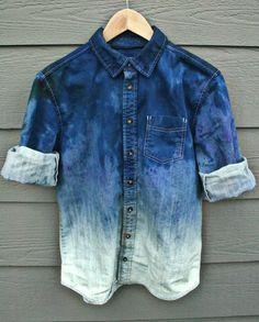 iFancy - Tie Dye Denim Shirt