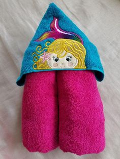 Your place to buy and sell all things handmade Mermaid Towel, Mermaid Kids, Kids Hooded Towels, Hooded Bath Towels, Pink Towels, Mermaid Coloring, Vinyl Fabric, Time Shop, Kids Bath