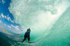 Great view of surfer Ben Bourgeois in the barrel. Photo by Chris Burkard