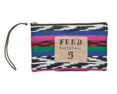 Zebra ikat FEED Guatemala pouch