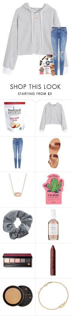 """today was bittersweet"" by livpreppydancer ❤ liked on Polyvore featuring GALA, Frame, Ancient Greek Sandals, Kendra Scott, TONYMOLY, Topshop, Herbivore, Bobbi Brown Cosmetics, tarte and Guerlain"