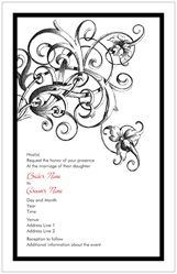 Wedding Invitations Invitations & Announcements accents black swirl