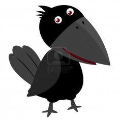 illustration of Cartoon crow Stock Photo - 16835046