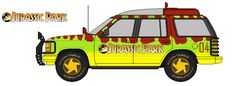 """Jurassic Park Explorer, the car used in the Steven Spielberg film """"Jurassic Park"""" perfect in every detail. Jurassic Park Car, Jurassic World Dinosaurs, Boy Birthday Parties, Theme Parties, 2nd Birthday, Classroom Fun, Dinosaur Party, I Movie, Ford Explorer"""