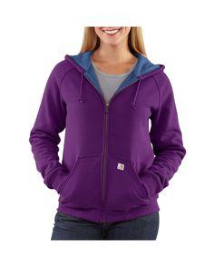 Carhartt Women's Thermal-Lined Zip-Front Hooded Sweatshirt