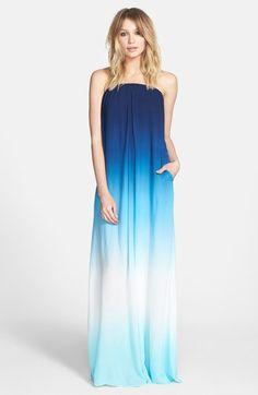 YOUNG, FABULOUS & BROKE Karissa Maxi Dress in Fuchsia Ombre ...