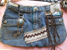 Purse recycled jeans by TICTAC1212 on Etsy