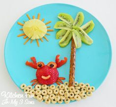Crab on the Beach Snack... easy to make and great for toddlers!