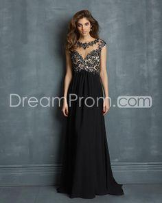 2014 Floor-length Jewel Neck A-Line Sleeveless Chiffon Prom Dresses