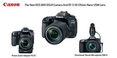 Canon: Camera EOS 80D DSLR Has 45-Point AF, 24.2 Megapixel CMOS Sensor, Vari-angle Touch Screen 3.0″ LCD and Lens EF-S 18-135mm IS Nano USM: For Producing Dynamic Visual Content for Still & Video