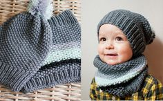 Made to order - Hand Knit Little Hat and Snood Set