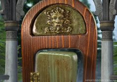 An enchanted greenman fairy door to ring in the winter fairy gardening season.
