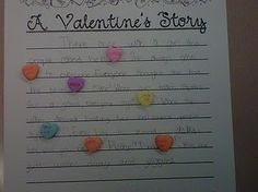 Valentine's Story with Candy Hearts