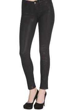 J. Brand Super Skinny Legging --- Waxy finish.
