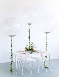 Flower-filled giant balloons | We Are Origami Photography