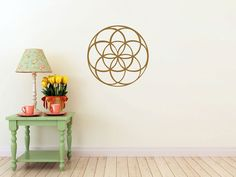 seed of life mandala vinyl Wall DECAL-flower Sacred geometry, sticker art, home decor on Etsy, $30.00